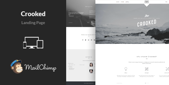 Crooked – Multipurpose Landing Page Template