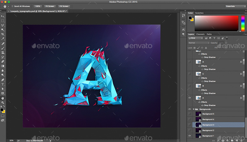 Low Poly Typography