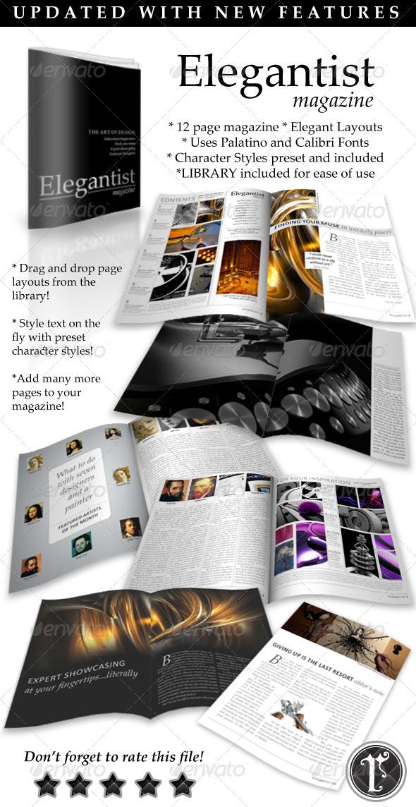 Elegant Art Magazine Template - Magazines Print Templates