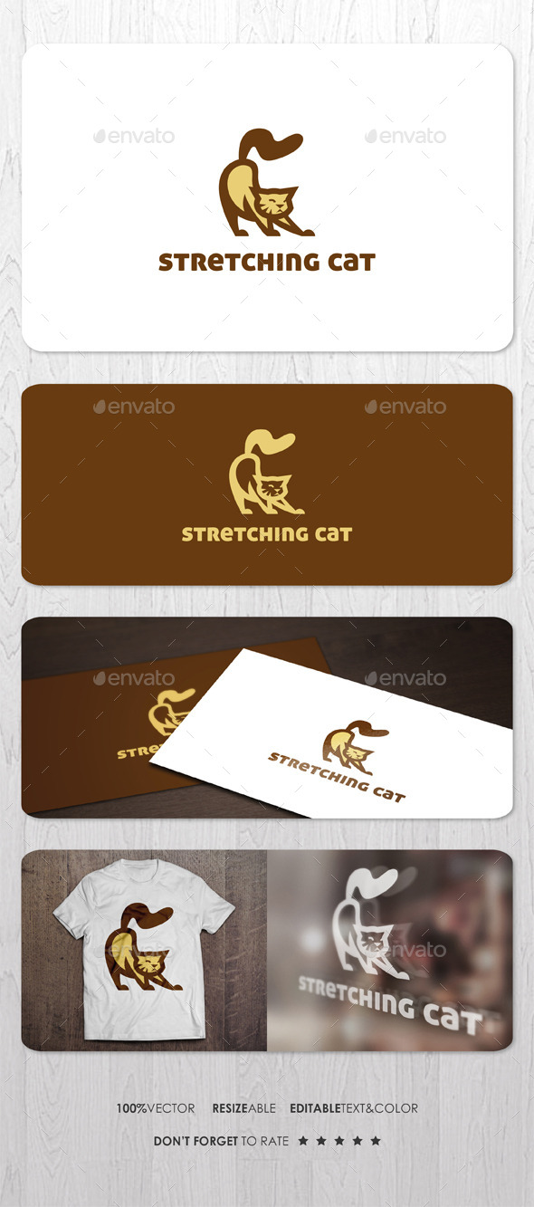 Stretching Cat Logo