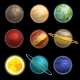Solar System Planets Pictograms Set - GraphicRiver Item for Sale