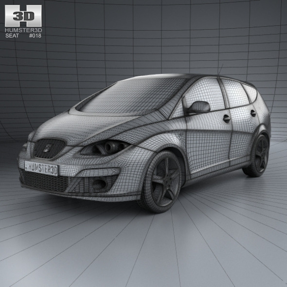 Seat Altea Xl 2009 By Humster3d 3docean