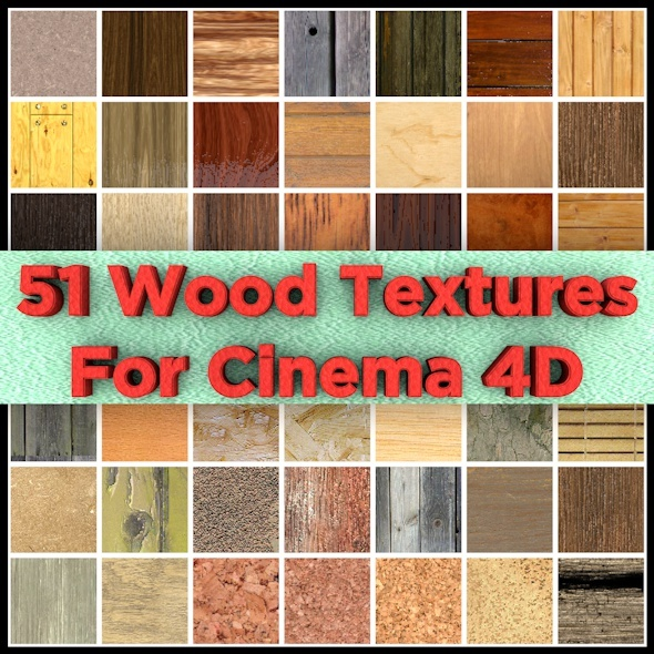 51 Wood Materials For Cinema 4D - 3DOcean Item for Sale