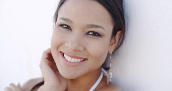 Smiling Elegant Young Woman