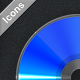 CD/DVD/Blue-Ray/Vinyl Icons - GraphicRiver Item for Sale