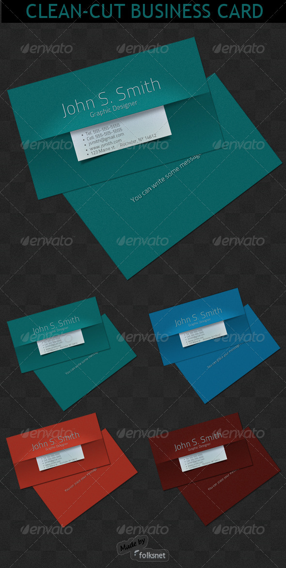 Clean-Cut Business card - Corporate Business Cards