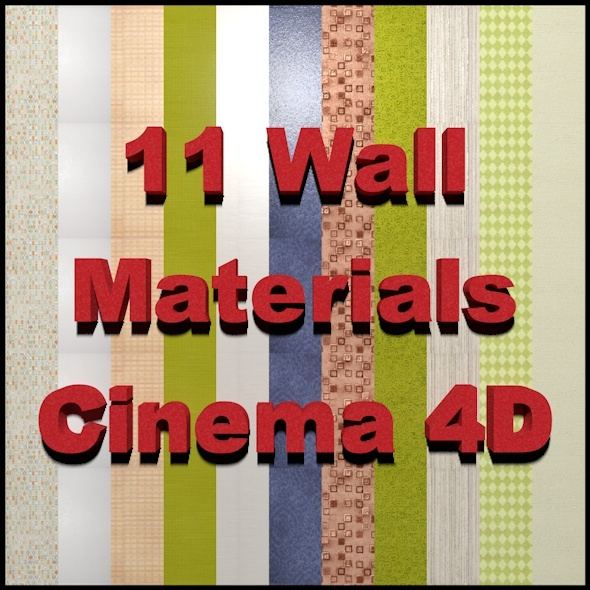 11 Wall Materials Cinema 4D - 3DOcean Item for Sale