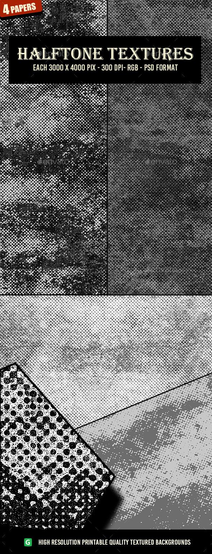 Monochrome Halftone Textures 59 - Textures