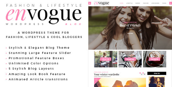 EnVogue | Fashion & Lifestyle WordPress Blog Theme - Personal Blog / Magazine