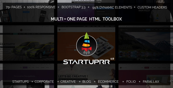 Startuprr – Unique Multi-Purpose HTML Template