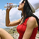 Woman Drinking Water - VideoHive Item for Sale