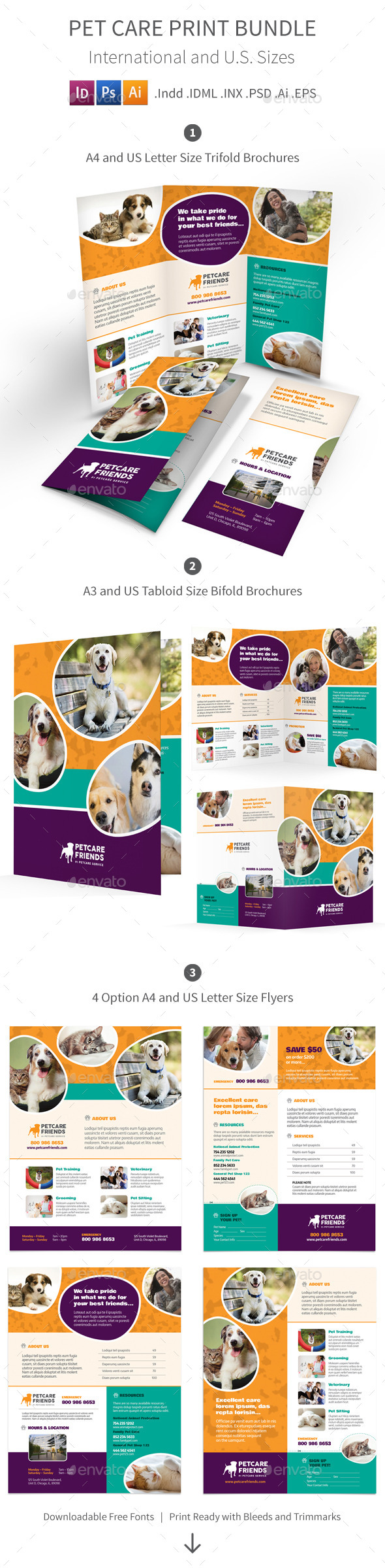 Pet Care Print Bundle - Informational Brochures