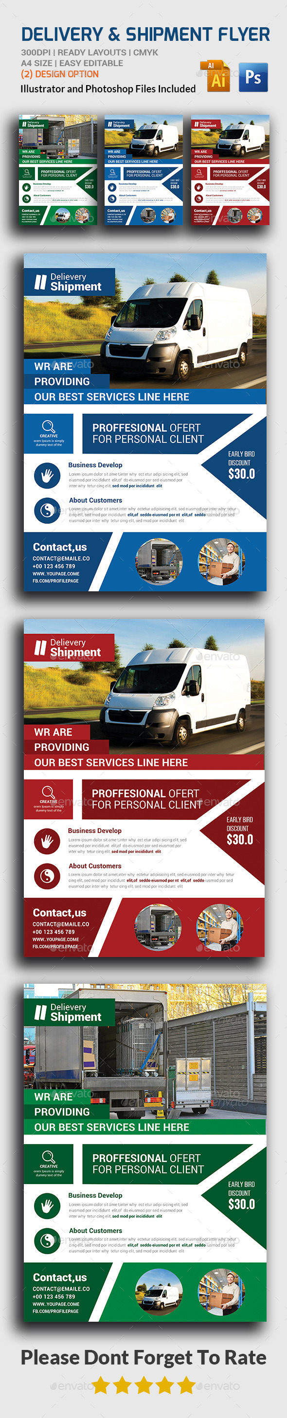 Delivery & Shipment Flyer  - Corporate Flyers