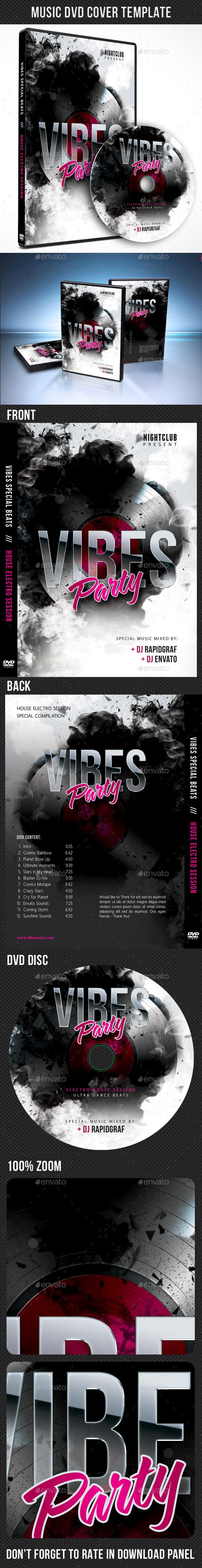 Music DVD Cover Template V12 - CD & DVD Artwork Print Templates
