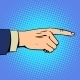 Hand Pointing Finger Man - GraphicRiver Item for Sale