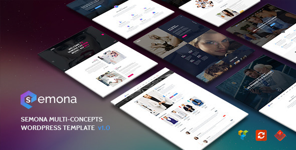 Semona – Creative Multi-Concept WordPress Theme