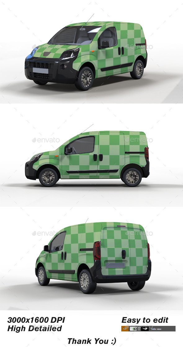 Mini Van Mock up - Vehicle Wraps Print