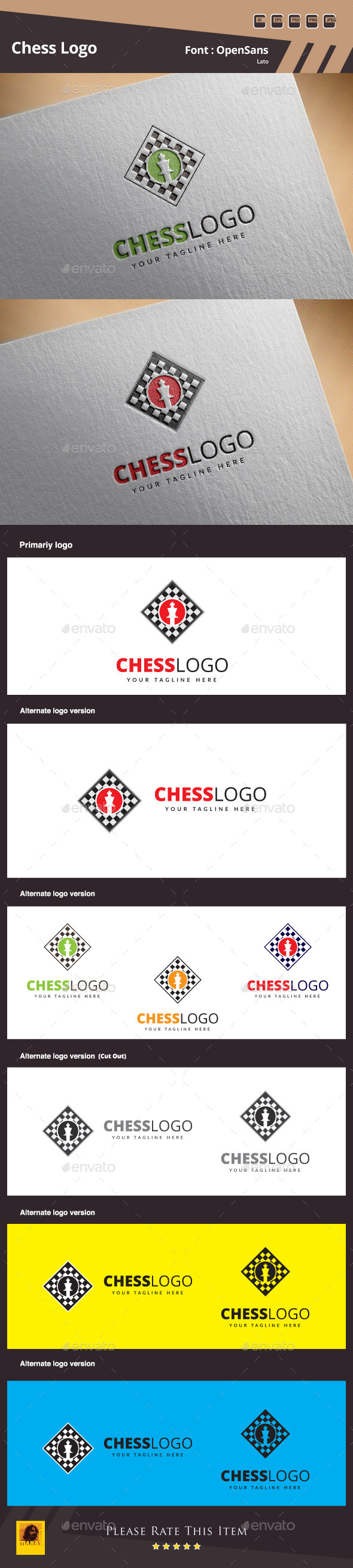 Chess Logo Template - Symbols Logo Templates