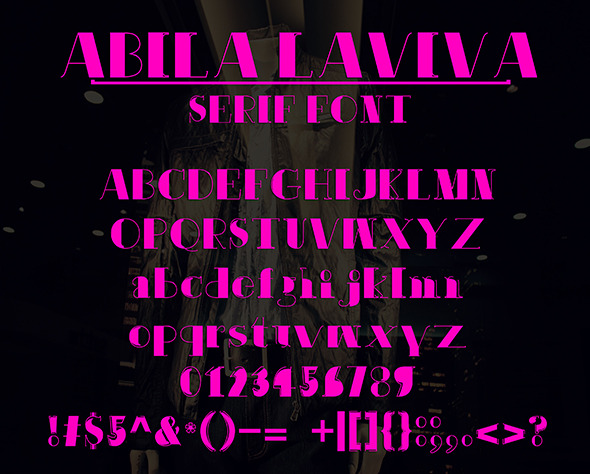 Abila Laviva - Serif Fonts