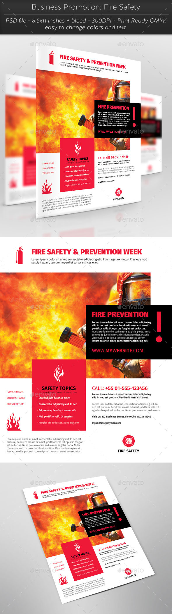 Business Promotion: Fire Safety - Corporate Flyers