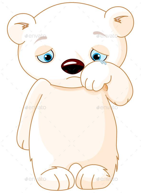 Sad Polar Bear  - Animals Characters