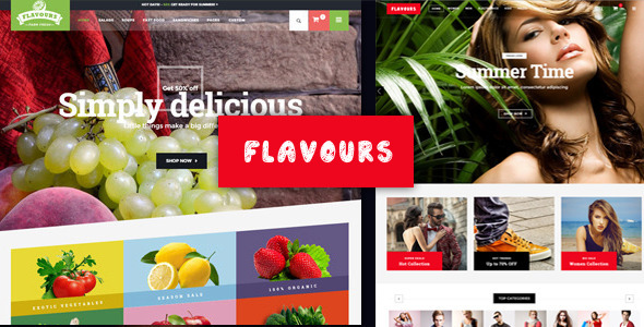 Flavours Fruit Store Ecommerce HTML Template - Food Retail