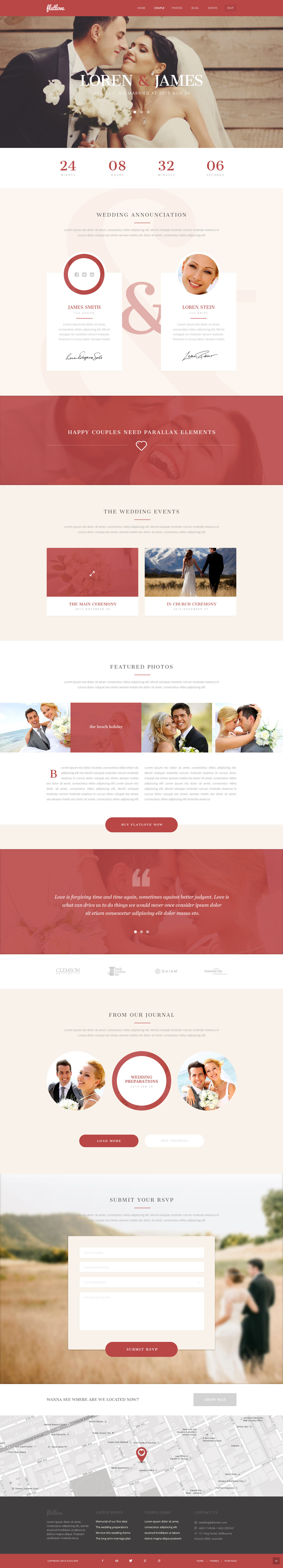 Onepage Wedding Html Template Site Templates 01 Preview Jpg
