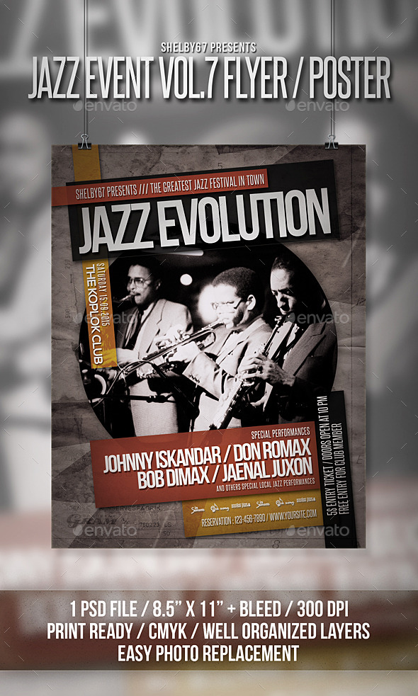 Jazz Event Flyer Poster Vol 7