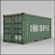 20F Shipping Container - 3DOcean Item for Sale