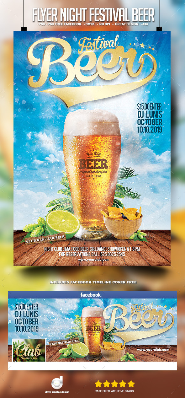 Flyer Night Festival Beer - Clubs & Parties Events
