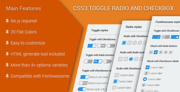 Nulled CSS3 Toggle Radio & Checkbox