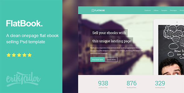 FlatBook - Flat Ebook Selling Psd Template