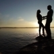 Silhouette Of Couples At Sunset - VideoHive Item for Sale