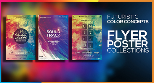 FUTURISTIC COLORFUL CONCEP FLYER POSTERS