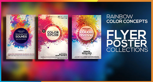 RAINBOW COLOR CONCEPTS FLYER TEMPLATE