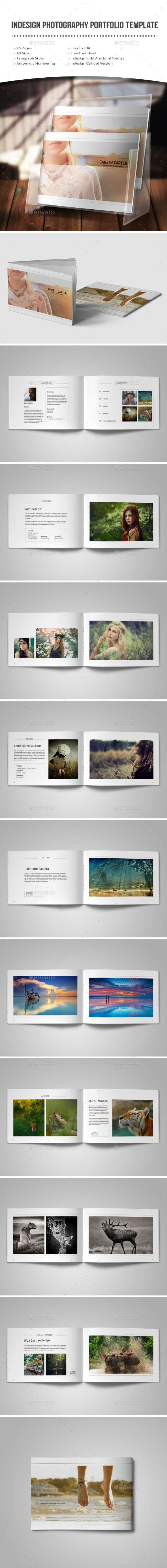 indesign photography portfolio template - Portfolio Brochures