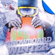 Snowboard Winter Flyer Template