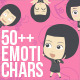 50+ Emotichars Businesswomen Version - GraphicRiver Item for Sale