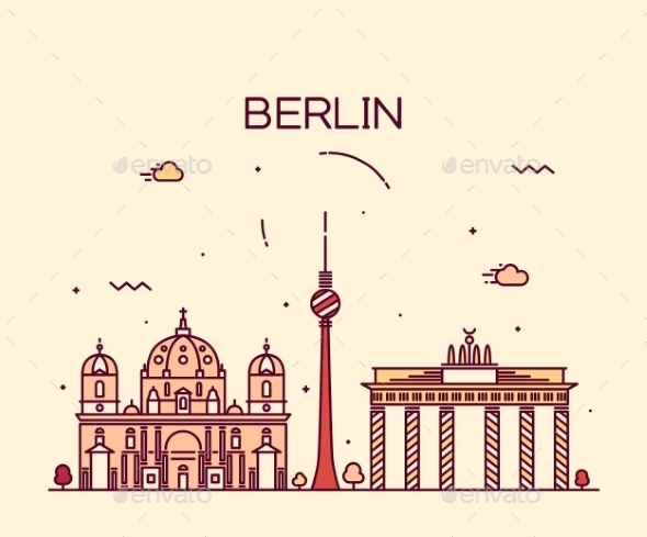 Berlin Skyline - Landscapes Nature