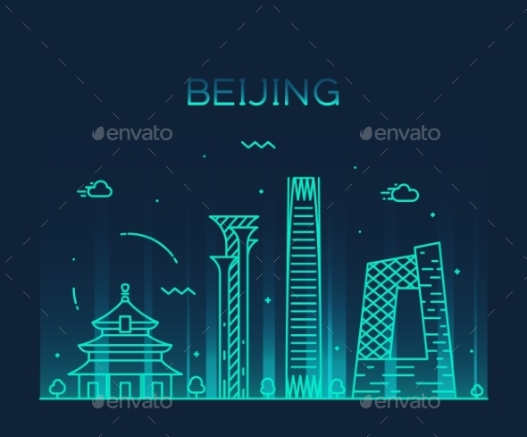 Beijing Skyline - Landscapes Nature