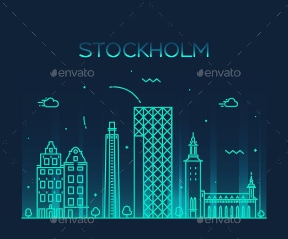 Stockholm Skyline - Decorative Symbols Decorative