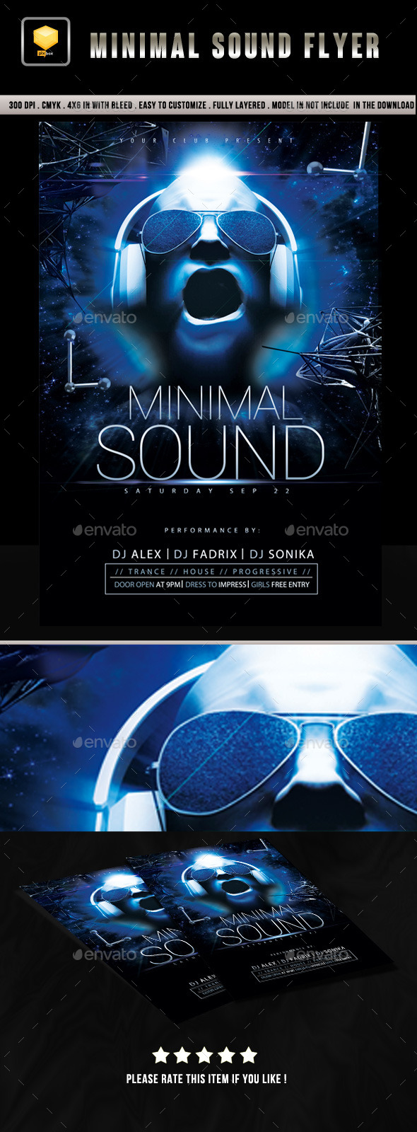 Minimal Sound Flyer - Clubs & Parties Events