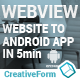 WebView Android Template App - CodeCanyon Item for Sale