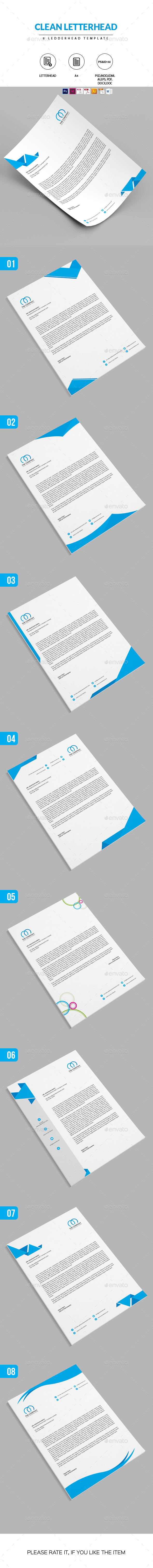 8 Letterhead Template Pack - Proposals & Invoices Stationery