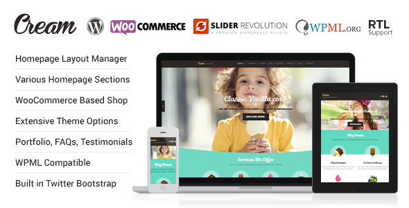 Cream - WooCommerce WordPress Theme - WooCommerce eCommerce
