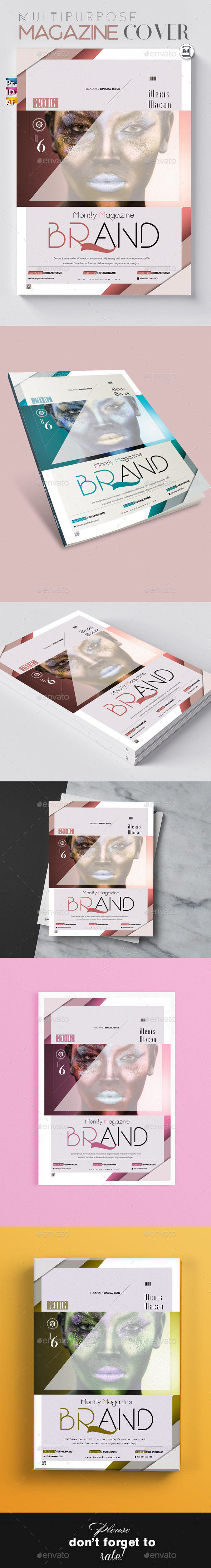 Multipurpose Magazine Cover with All Formats - Magazines Print Templates