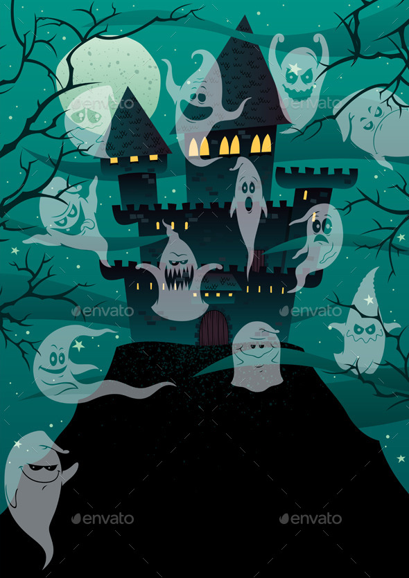 Haunted Castles  - Backgrounds Decorative