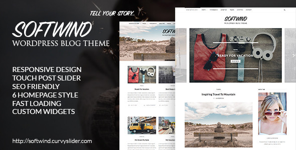SoftWind – SEO Friendly WordPress Blog Theme