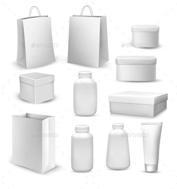 Collection of Shopping Bags and Gift Boxes - Man-made Objects Objects