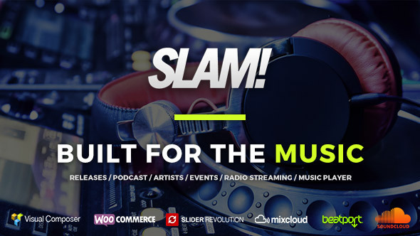 SLAM! Music Band, Musician and Dj WordPress Theme - Music and Bands Entertainment